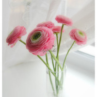 Hand Sculpted Bouquet Ranunculus set 7 by RykhlinskaARTstudio