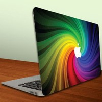 Amazon.com: MacBook Air or MacBook Pro -13-Inch Vinyl, Removable Skin - Apple Rainbow Paint Swirl: Computers & Accessories
