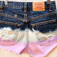 The Pink Ombre Shorts by Shopwunderlust on Etsy