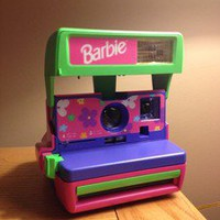 Polaroid Barbie Instant Film Camera w/ Straps!