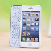 Creative Sliding Bluetooth Wireless Keyboard Case Cover for Iphone 4/4s/5
