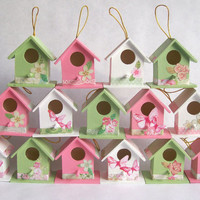 50 Wooden birdhouse wedding favors