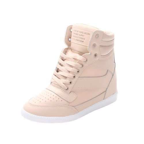 Muro Women's Hi Top Hidden Wedge Heel Fashion Sneaker