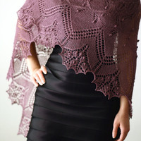 Made to order  handknitted lace shawl Free shipping by katerynaG