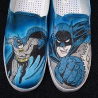 Batman Custom Designed Shoes by inkwear99 on Etsy