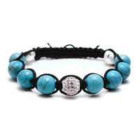 Turquoise and Silver Tibetan Bracelet by misomia on Etsy