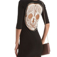Mesh Skull Back Body-Con Dress: Charlotte Russe