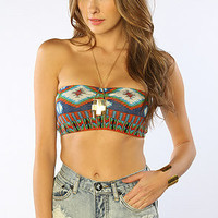 The Navajo Sweater Bandeau in Blue
