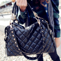 Leather Rivet Handbag