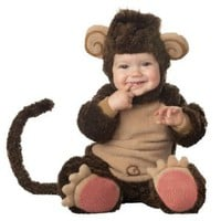 Amazon.com: Lil Characters Infant Monkey Costume, Brown/Tan: Clothing