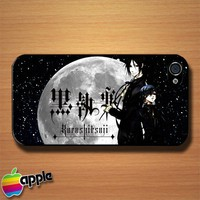 Black Butler Kuroshitsuj Custom iPhone 4 or 4S Case Cover