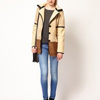 Vero Moda Faux Shearling Long Jacket at asos.com