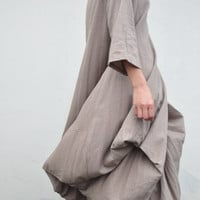 Great Wall/pleated romantic long half sleeves by KelansArtCouture