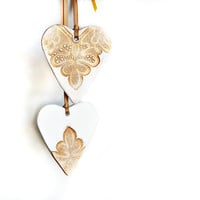 Golden Heart scented ornament gift tag
