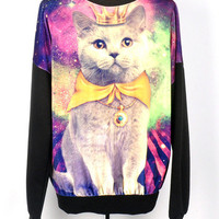 Yellow Galaxy cat t shir...