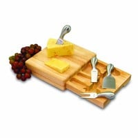 Picnic Time Festiva 8-3/4-Inch Cheese Board/Tool Set