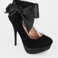 suede ankle bow pump $29.50 in BLACK 1 RED - New Shoes | GoJane.com