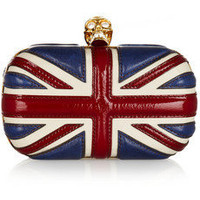 Alexander McQueen | Britannia leather box clutch | NET-A-PORTER.COM