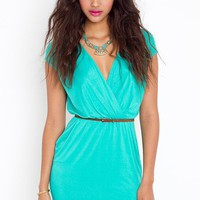 Sunday Wrap Dress - Jade in  Clothes at Nasty Gal