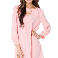 Hani Shift Dress in Pink - ShopSosie.com