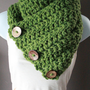 Coconut Button Crochet Cowl on Luulla