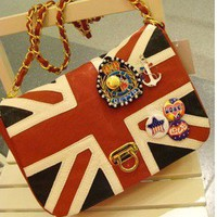 Fashion  Flag Bag Sailor Anchor Medal Bag