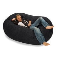 Relax Sack 6 ft. Microsuede Foam Bean Bag Lounger - Bean Bag Chairs at Hayneedle