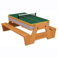 3 in 1 Picnic Game Table - Table Tennis at Hayneedle