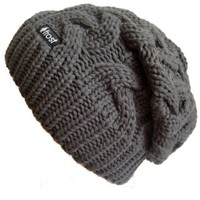 Frost Hats Winter Slouchy Beanie Cable Hat Knitted Hat Frost Hats M-179