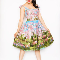 Cherry Blossom Tree Pin Up Pearl Dress - Unique Vintage - Cocktail, Evening  Pinup Dresses