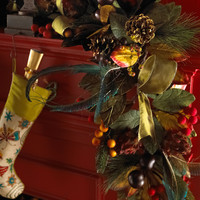 &quot;Plumage&quot; Christmas Garland from Tamilee Decors - Horchow