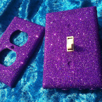 Grape Kiss Glitter Switchplate Set