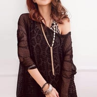 Stylish Feeling Black Two Pieces Dots Blouses : Wholesaleclothing4u.com