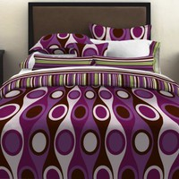 City Scene Retro Radar Purple Duvet Set - Teen & Tween Bedding at Hayneedle