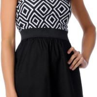 Empyre Girl Labyrinth Black  White Zipper Dress  at Zumiez : PDP
