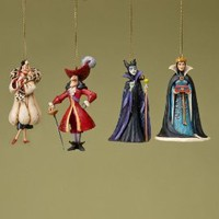 Jim Shore Disney Traditions Disney Villians Ornaments Set of 4