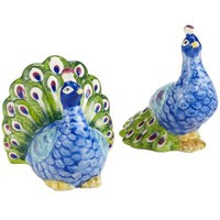 Peacock Salt & Pepper Shakers