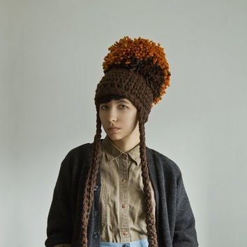 I Like Giants Puffy Pom Pom Hat by Yokoo on Etsy