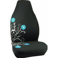 Bell Automotive 22-1-56211-8 Silver and Blue Floral Design Universal Bucket Seat Cover : Amazon.com : Automotive
