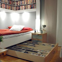 Look! The Small Space Movie Lover's Library and Bedroom | Apartment Therapy Los Angeles