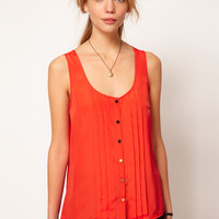 Oasis Pleat Top