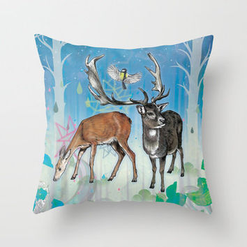 Glade Throw Pillow by Mat Miller | Society6