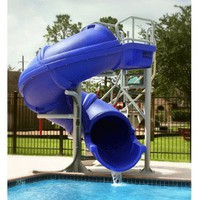 Amazon.com: S.R. Smith 695-209-43 Vortex Full Tube with Stairs Pool Slide, Blue: Patio, Lawn & Garden