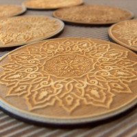 Engraved wooden coasters set by InvenioCrafts on Etsy