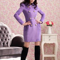 Purple Coat - Purple wool coat,women clothes,ladies clothes,fashion | UsTrendy