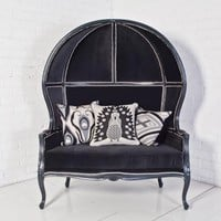 www.roomservicestore.com - Balloon Chair Love Seat in Charcoal Velvet