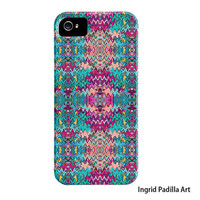 iPhone 5 Case or iPhone4 Case - purple or Pink  - Funky Abstract Art iPhone cases by Ingrid