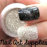 Diamond Bright - Silver White Raw Extra Fine Nail Glitter Mix 3.5 Grams