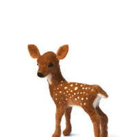 Needle Felted Fawn - white tail deer - needle felted animals