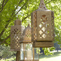 """Marrakesh"" Burnished Outdoor Lanterns - Horchow"